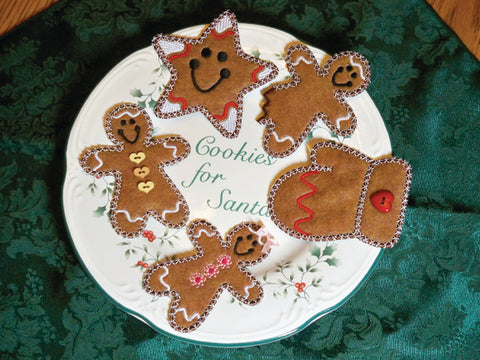 Christmas Cookies machine applique at Sew Inspired by Bonnie