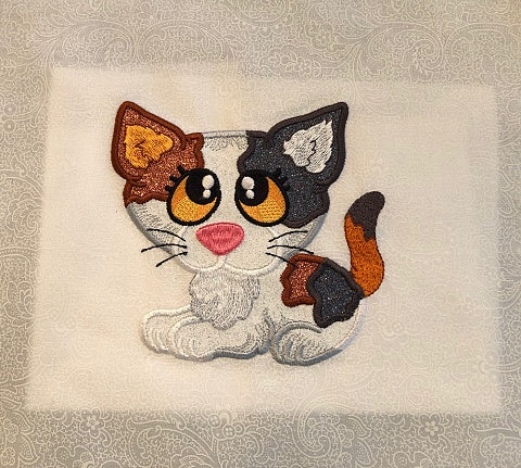 Calico machine applique by Sew Inspired by Bonnie
