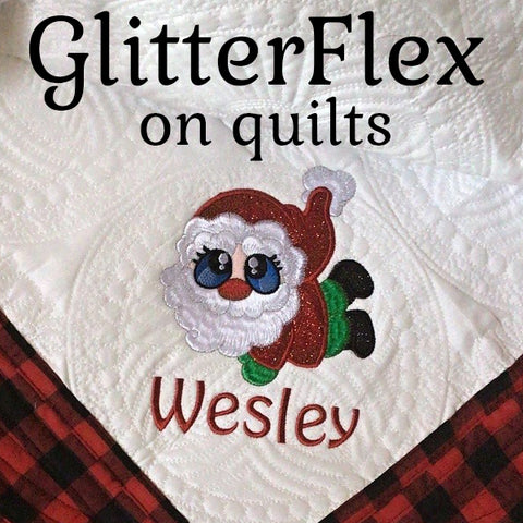 GlitterFlex Designs on Quilts SewInspiredByBonnie.com