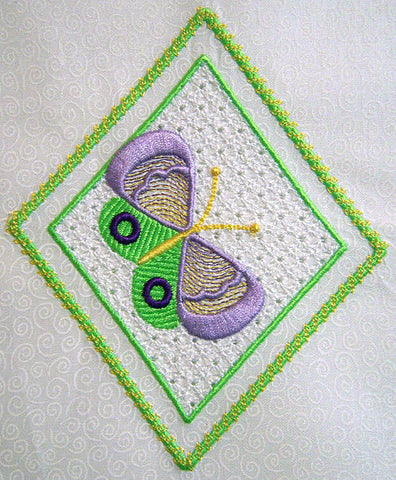 Wing Needle Butterflies from SewInspiredbyBonnie.com