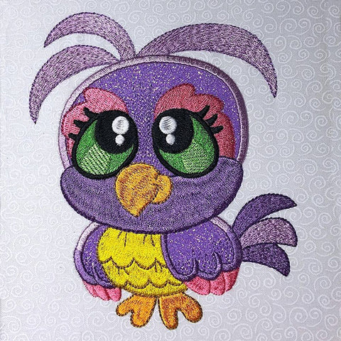 Picture of a machine applique file of a bird.
