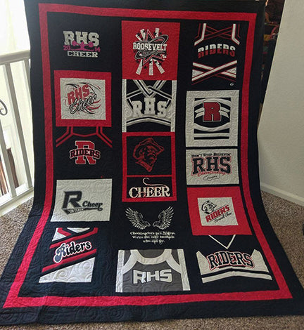 SewInspiredByBonnie.com T-shirt Quilts: Cheerleading Uniforms