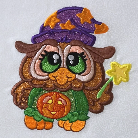 Picture of Owl in Spooky Buddies machine applique set