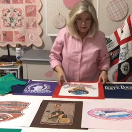 T-shirt Quilts and Beyond: Part 2 from SewInspiredByBonnie.com