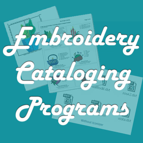 Embroidery Cataloging Programs blog post at Sew Inspired by Bonnie