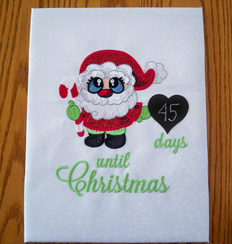 Santa Buddies free project Christmas countdown board at Sew Inspired by Bonnie