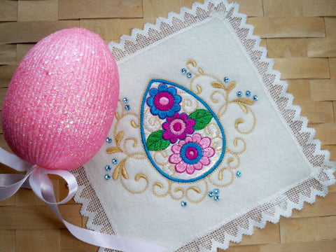 Eggsquisite Jewels machine embroidery at Sew Inspired by Bonnie