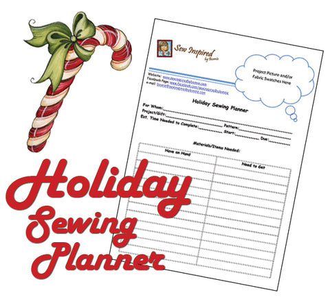 Free Holiday Sewing Planner from SewInspiredbyBonnie.com