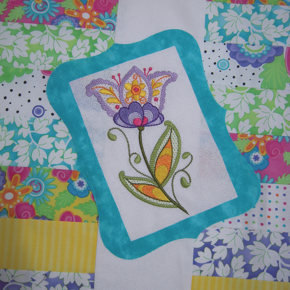 Picture of floral machine embroidery designs at Sew Inspired by Bonnie