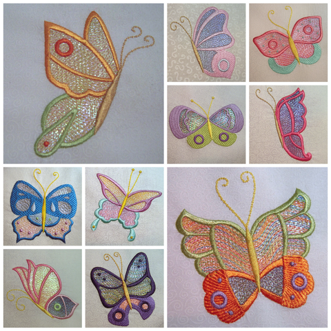 Butterfly Bling machine embroidery by Sew Inspired by Bonnie