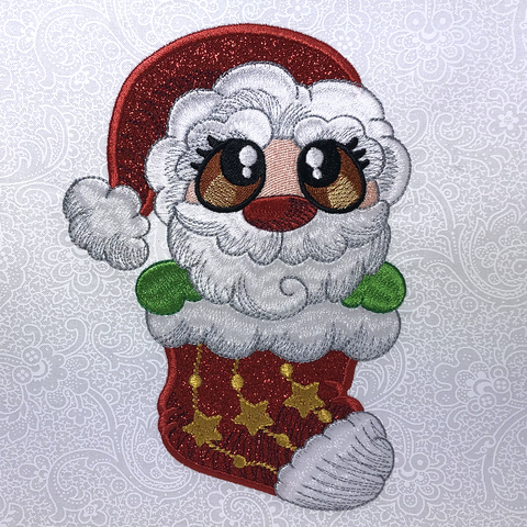 Santa Buddies machine applique at Sew Inspired by Bonnie