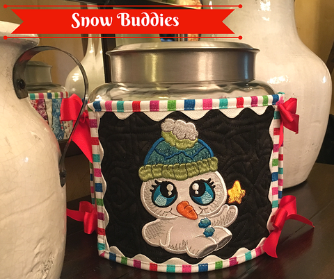 Snow Buddies machine applique at Sew Inspired by Bonnie
