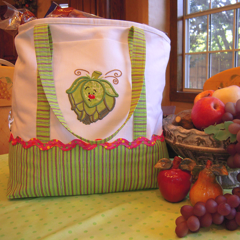 Fun Time Veggies machine applique at Sew Inspired by Bonnie
