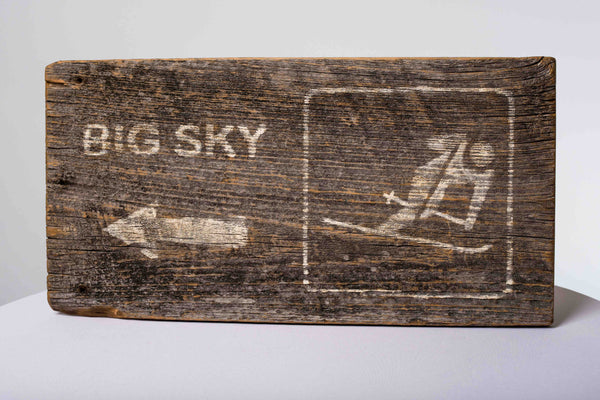 Big Sky Skier Sign