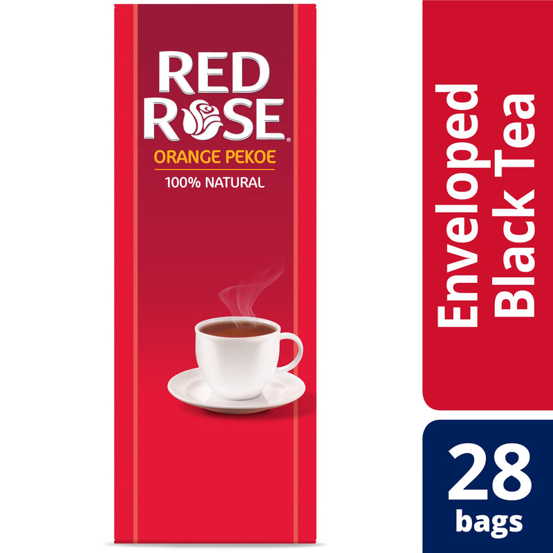 Red Rose Orange Pekoe Tea 28 Count