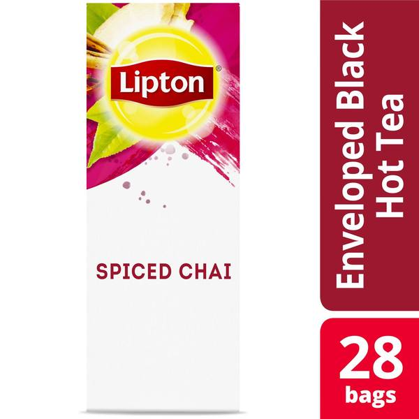 Lipton Hot Tea Bags Spiced Chai 28 Count