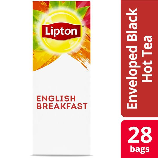 Lipton Hot Tea English Breakfast 28 Count