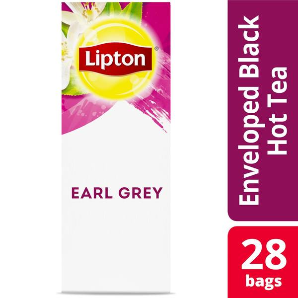 Lipton Hot Tea Bags Earl Grey 28 Count