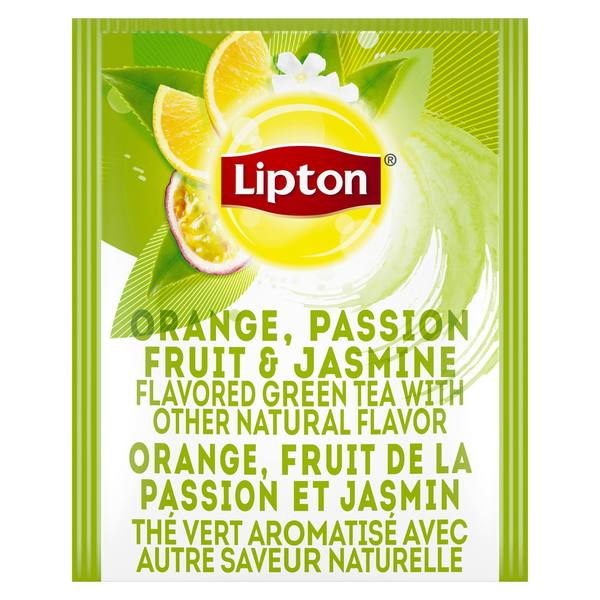 Lipton Hot Tea Bags Green Tea with Orange, Passionfruit, and Jasmine 28 Count