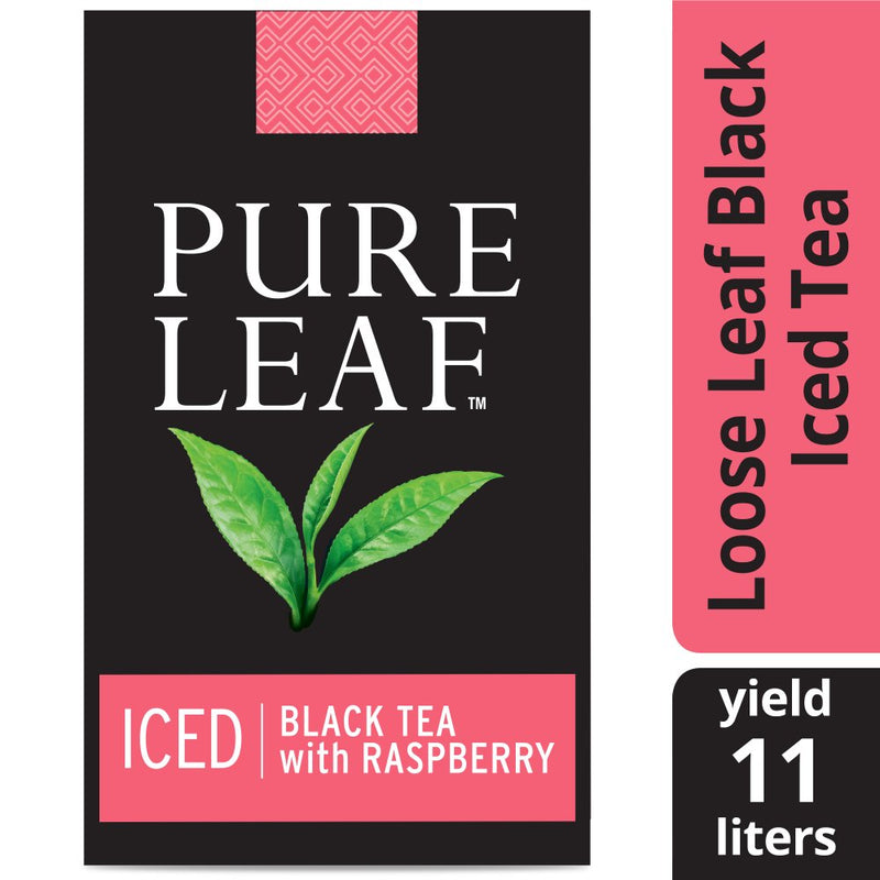 Pure Leafᵀᴹ Iced Loose Tea Pouch Black with Raspberry 3 oz, 24 count