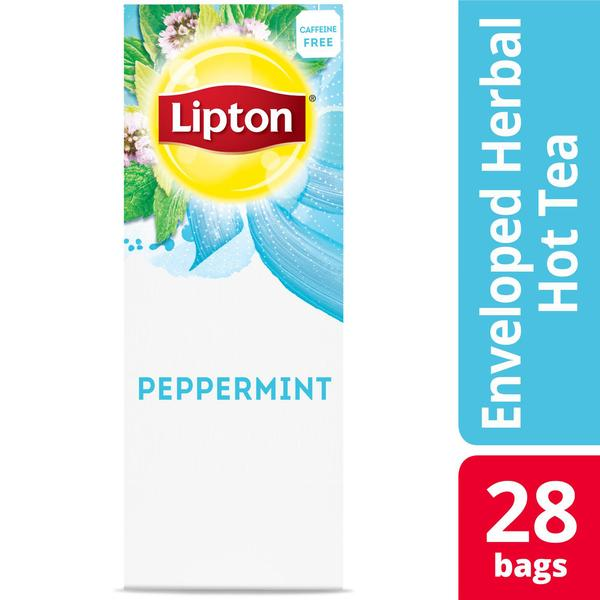 Lipton Hot Tea Bags Peppermint Herbal Tea 28 Count