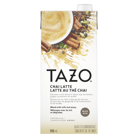 Tazo Classic Chai Latte Concentrate 1:1 946 ml Pack of 6