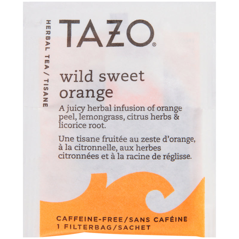 TEMPORARILY OUT OF STOCK: Tazo Hot Tea Filterbag Wild Sweet Orange 24 count