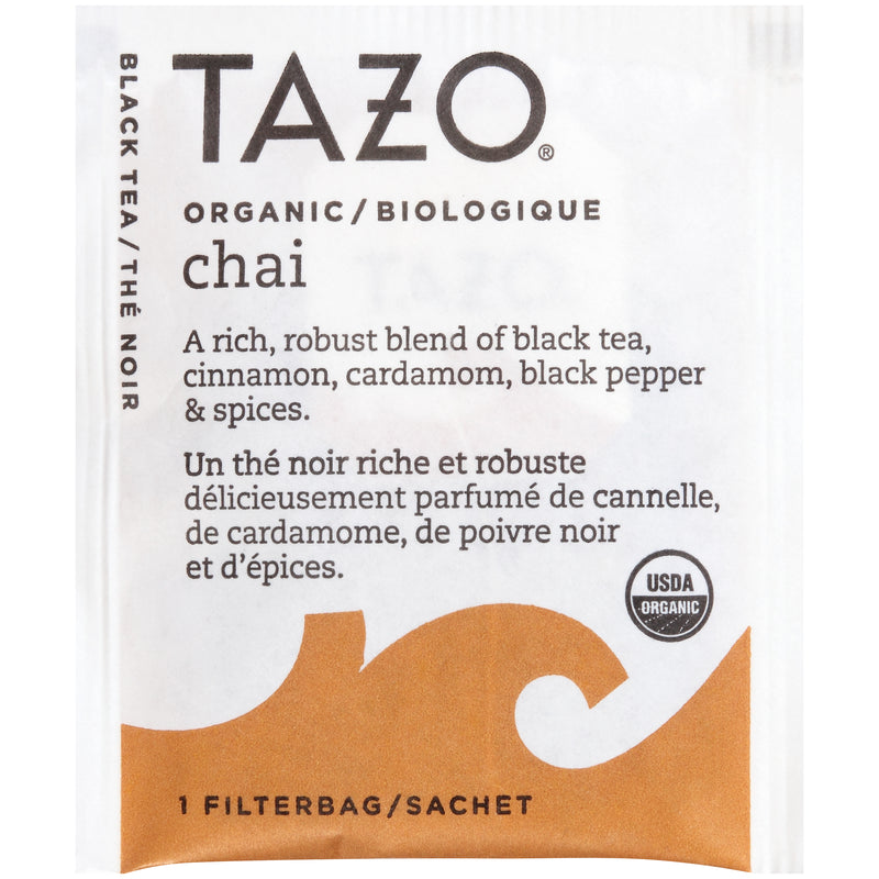 TEMPORARILY OUT OF STOCK: Tazo Hot Tea Filterbag Organic Chai 24 count
