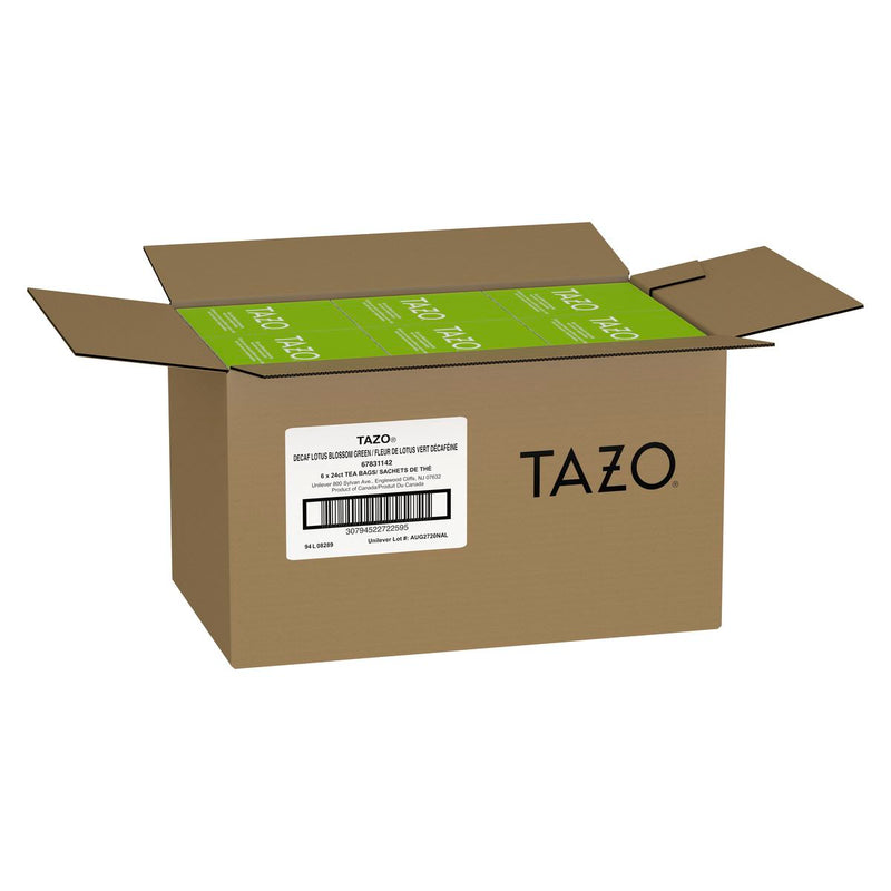 Tazo Hot Tea Filterbag Decaf Lotus Blossom Green 24 count