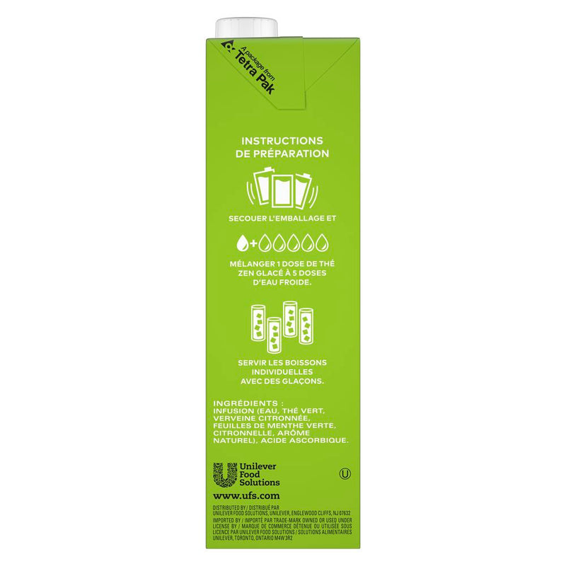 TEMPORARILY OUT OF STOCK: TAZO Iced Tea Concentrate Zen Green 5:1 946 ml, Pack of 6