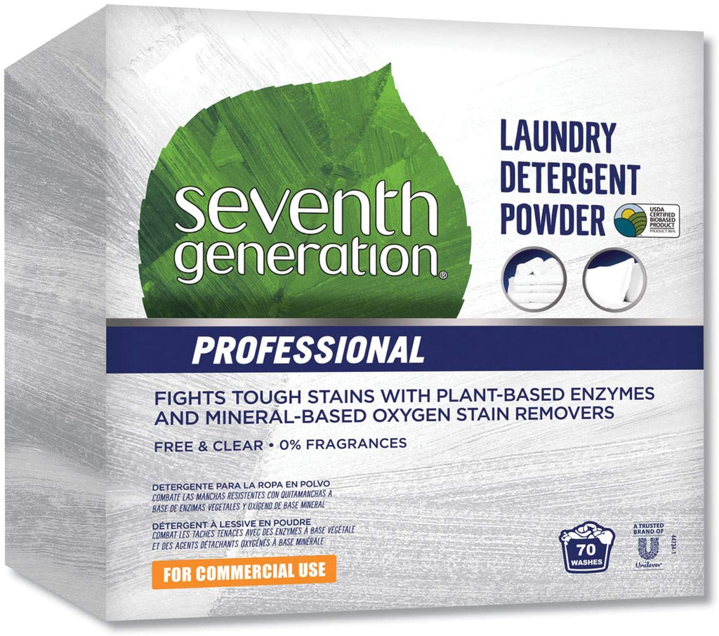 Seventh Generation Professional Laundry Detergent Powder Box 112 oz