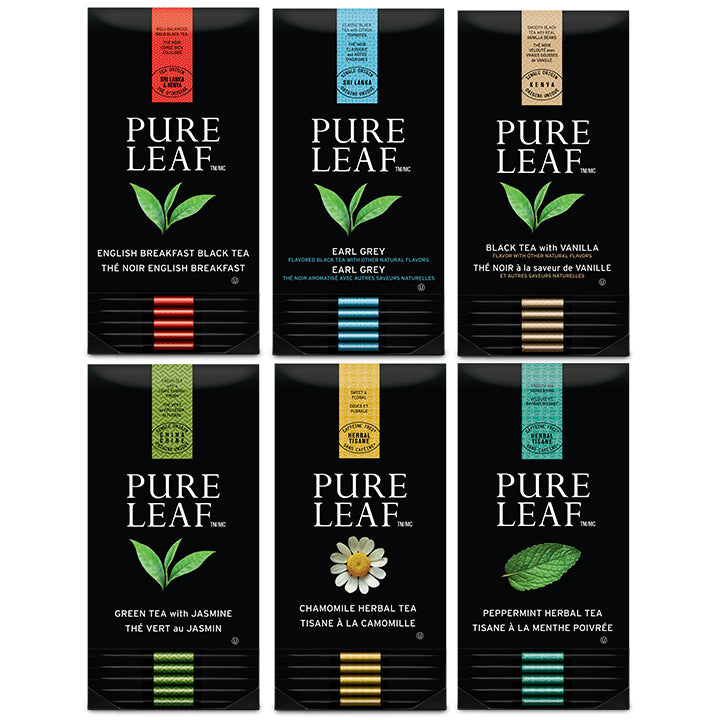 TEMPORARILY OUT OF STOCK: Pure Leaf Black/Herbal Variety Pack