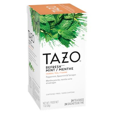 Tazo Hot Tea Filterbag Refresh Mint 24 count