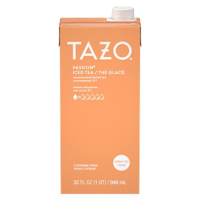 TAZO Iced Tea Concentrate Passion 5:1 946 ml, Pack of 6