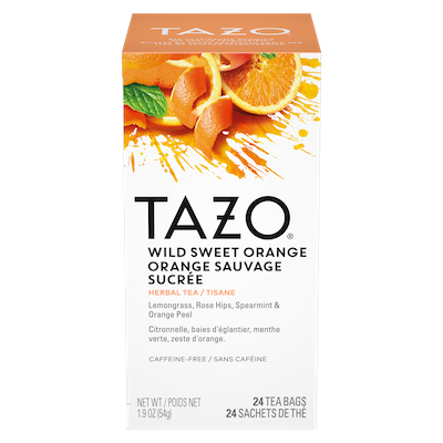 Tazo Hot Tea Filterbag Wild Sweet Orange 24 count