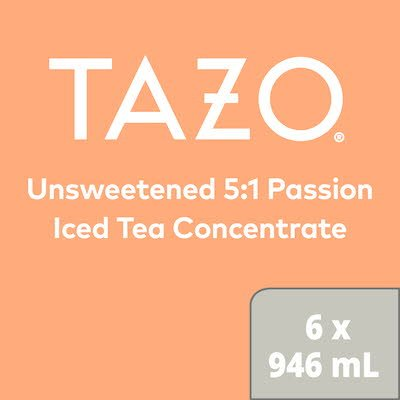 TEMPORARILY OUT OF STOCK: TAZO Iced Tea Concentrate Passion 5:1 946 ml, Pack of 6