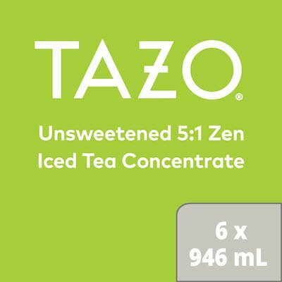 TAZO Iced Tea Concentrate Zen Green 5:1 946 ml, Pack of 6
