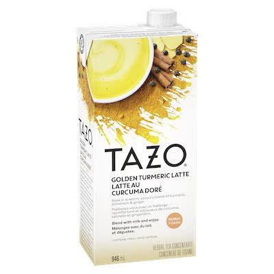 TAZO Turmeric Latte Golden Milk Concentrate 1:1 946ml Pack of 6