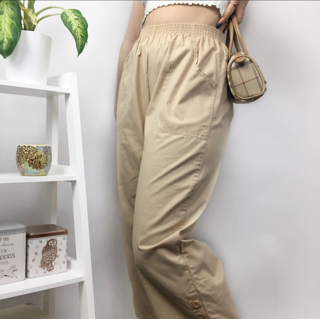 90s Highwaisted Cropped Trouser (6,8,10)