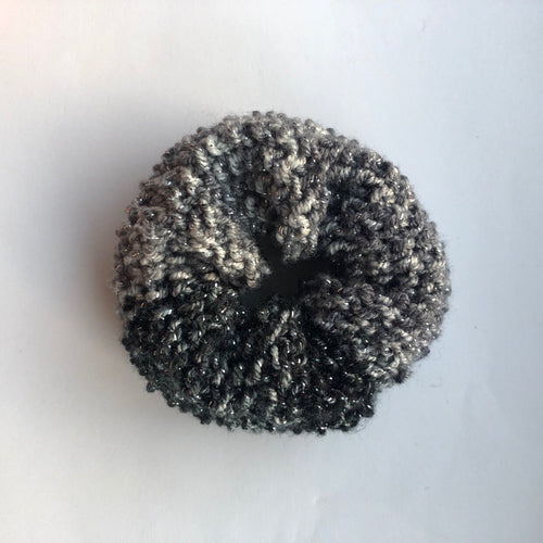 Knitted Glitter Hair Donut