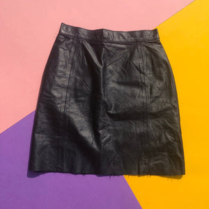 Reworked Leather Skirt - Broken Zip