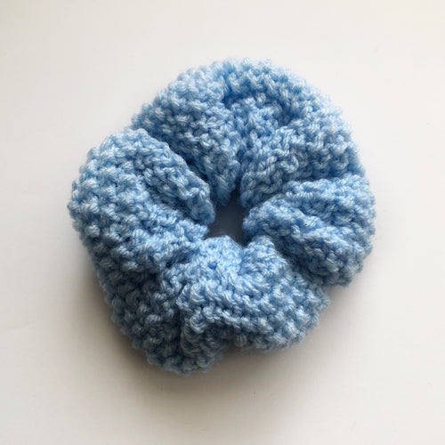 Pastel Knitted Hair Scrunchie