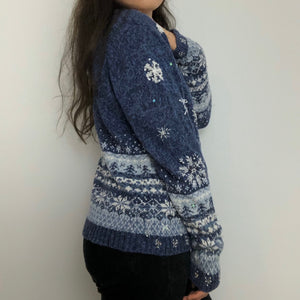 80s Sequin Christmas Cardigan