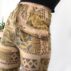 Patterned Highwaisted Trousers