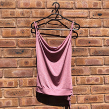 90s Cowl Neck Glitter Cami - UK 8