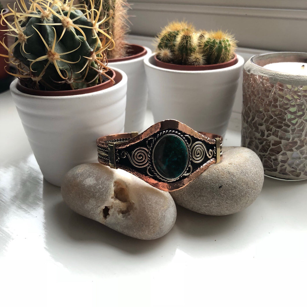 Peruvian Bangle - Jade Albite