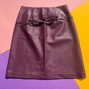 Reworked Leather Skirt