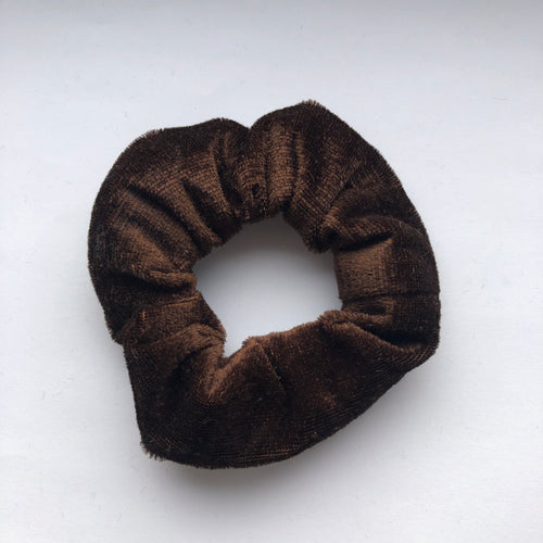 Brown Velvet Scrunchie