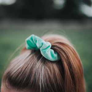 Large Pastel Velvet Hair Scrunchie