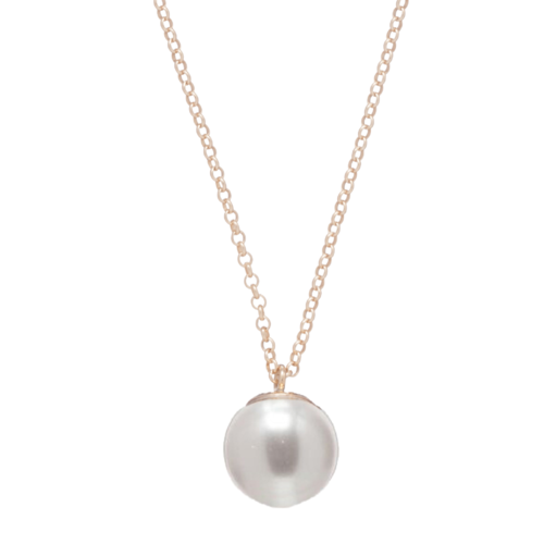 "16"" Clarity Pearl Charm Necklace"